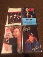 Lot Of 4 Cassette Tapes 80s Rock Pop. BILLY IDOL PAULA ABDUL DEBBIE GIBSON +