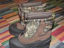 ITASCA WINTER BOOTS   CAMO   FULL FRONTAL ZIPPER   YOUTH SIZE: 3