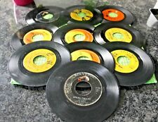 Vtg Record Lot of 45's From the 60's. Lot of 10