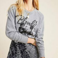 Anthropologie Letluv Blondie Graphic Sweatshirt Gray Women's Size XS NWT