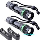 2X 2000 Lumen Zoomable CREE XM-L T6 LED Flashlight Torch Zoom Lamp Light+Charger