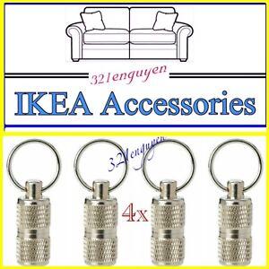 4x IKEA LURVIG Pet, Keys, Luggage ID Tube Stainless Steel 303.765.39