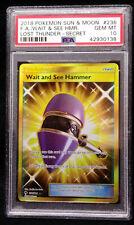 PSA 10 Wait and See Hamer 236 Secret Lost Thunder Gem Mint Pokemon Card 2018