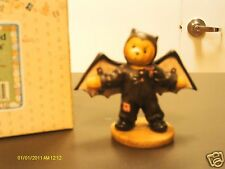 Cherished Teddies ` BARRY - I'm batty over you - boy in a Halloween bat costume