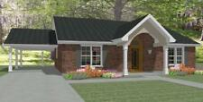 Affordable House Home Blueprints Plans 3 bedrooms 1445 sf PDF
