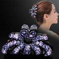 Crystal Hair Claw Alloy Rhinestone Grab Clip Clamp Women Hair Style Accessories!