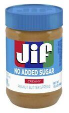 Jif No Sugar Added Creamy Peanut Butter Spread 15.5 oz Jar