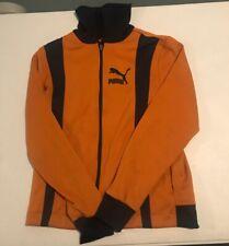 Puma Warm Up Jacket Gold And Navy M OG Vintage Full Zipper