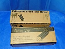 THE PAMPERED CHEF (1) BREAD TUBE-SCALLOPED, (1) BREAD TUBE- FLOWER