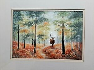 STAG - KING OF THE FOREST - AN ORIGINAL WATERCOLOUR PAINTING BY ANN- L'S ART