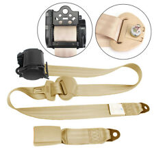 Beige 3 Point Automatic Car Front Seat Belt Buckle Kit Retractable Safety Straps (Fits: Chrysler Concorde)
