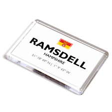 FRIDGE MAGNET - Ramsdell, Hampshire - Lat/Long SU5857