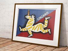 🍷 Poster Savignac Cinzano Manifesto Signage Stampa Fine Art di Pregio 🍾🇮🇹