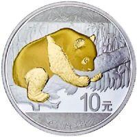 China - 10 Yuan 2016 - Panda - Teilveredelt - 30 gr Silber ST