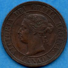 Canada 1893 1 Cent One Large Cent Coin - AU