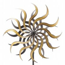 WINDRAD °ART FERRO ° SONNE ° METALL° WINDSPIEL° GARTENSTECKER° H 180 cm° D 38 cm