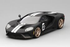 Ford GT Heritage Edition Matte Black in 1:43 Scale by Truescale Miniatures
