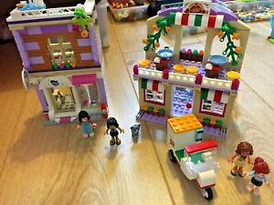 BUNDLE Lego Friends Emma's Art Studio 41365 and Heartlake Pizzeria 41311