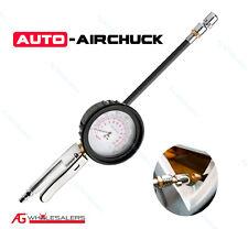 "Auto Airchuck Tyre Inflator Deflator 3.5"" Gauge - Straight 160Psi Tire Air Chuck"