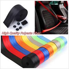 One Black Retractable Seat Belt 3 Point Autos Vehicle Front Lap Safety Seatbelt