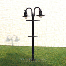 25 pcs OO gauge Model Lampposts 12V Lamps 2 arms Metal Street Lights #310