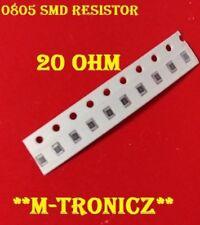 10PCS   0805 SMD Resistor 20 ohm 1% RoHS        USA SELLER