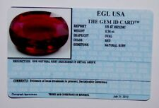 EGL USA Certified Natural Oval RED RUBY 0.34ct.