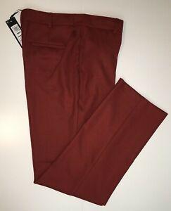 M&S AUTOGRAPH  Straight Leg Trousers  'Russet' PRP £59