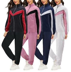 Women's Casual Jogger Gym Fitness Running Working Out Straight Leg Tracksuit Set