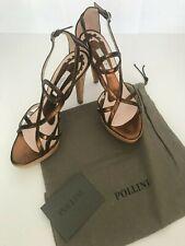 NEW Beautiful Pollini Cork Platform Heels, Metallic Brown. Perfect for Summer!