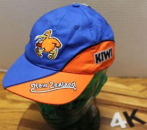 NWT KIDS YOUTH NEW ZEALAND KIWI HAT BLUE & ORANGE STRAPBACK ADJUSTABLE 4K