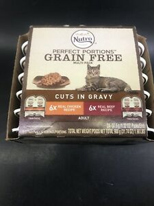 Nutro Perfect Portions Grain Free Multi-Pk Cuts In Gravy 12 Pack Exp 2/17/21