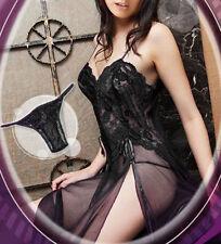 Lady Women Lace  Babydoll Sleepwear Slip Nightwear Nightie Nightdress Lingerie