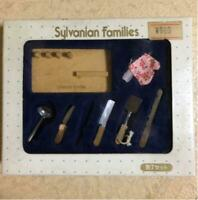 SYLVANIAN FAMILIES Initial Kitchen Knife Set Retired CALICO CRITTERS Epoch w/Box