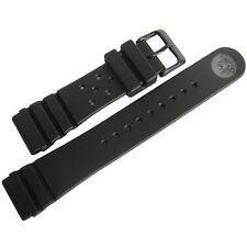 22mm Bonetto Cinturini Model 284 Black PVD BUCKLE Rubber Dive Watch Band Strap
