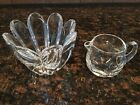 2 Orrefors Crystal~Mayflower bowl and small Pitcher/Creamer Signed/numbered