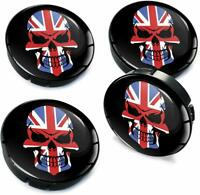 60mm Universal Car Wheel Centre Hub Cover Center Rims Caps UK Skull Flag C 92