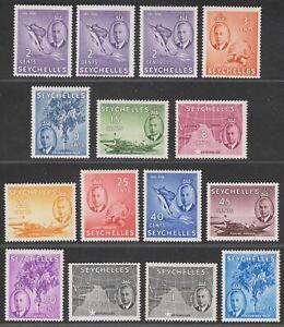 Seychelles 1952 King George VI Set to 1r.50 Mint SG158-169