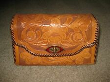 Vintage Hand Tooled Western Leather Hand Bag HIPPIE BoHo Purse