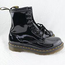 Women's Shoes Dr. Martens 1460 size 8 Combat Boots  BLACK PATENT Leather