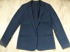 ESPRIT chicer Boyfriend Blazer blau knitterfreies Jersey Gr. 34 TOP 1017