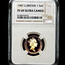 More details for 1987 queen elizabeth ii great britain gold proof sovereign ngc pf69 ucam