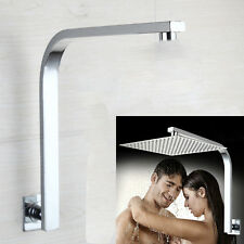 Goose Neck Shape Bathroom Brass Chrome Square Wall Mounted Shower Arm 5618
