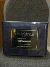 Hotel Style 600 Count King Dark Iris Sheet Set 100% Cotton Sateen! Brand New