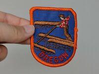 Oregon State Logger Log Roller Souvenir Shirt Jacket Hat Patch VTG 70s 1970s