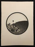 Verena Vernunft, Signal II, Radierung, 1970, handsigniert und datiert