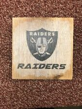 Oakland / Las Vegas Raiders Decorative Wooden Block