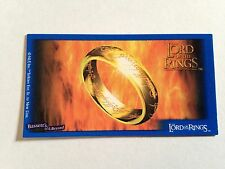 Lord Of The Rings - Bassett / Barratt Trading Cards - One Ring - Cigarette Cards