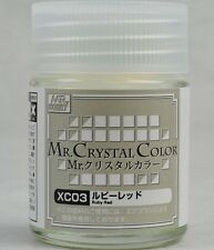 MR HOBBY Crystal Color Gunze LACQUER XC03 Ruby Red MODEL PAINT 18ml US
