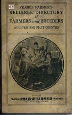 Moultrie Piatt Co Illinois   IL genealogy farmer directory history Sullivan CD